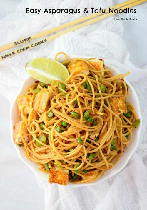 Easy Asparagus and Tofu Noodles