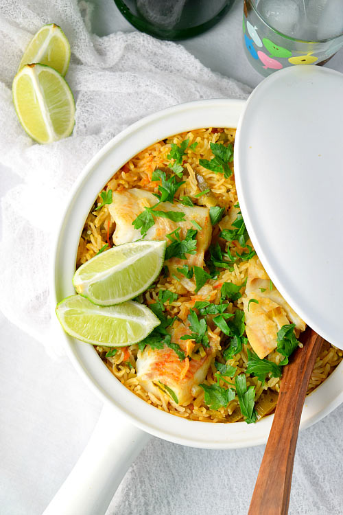 Simple Easy Fish Paella