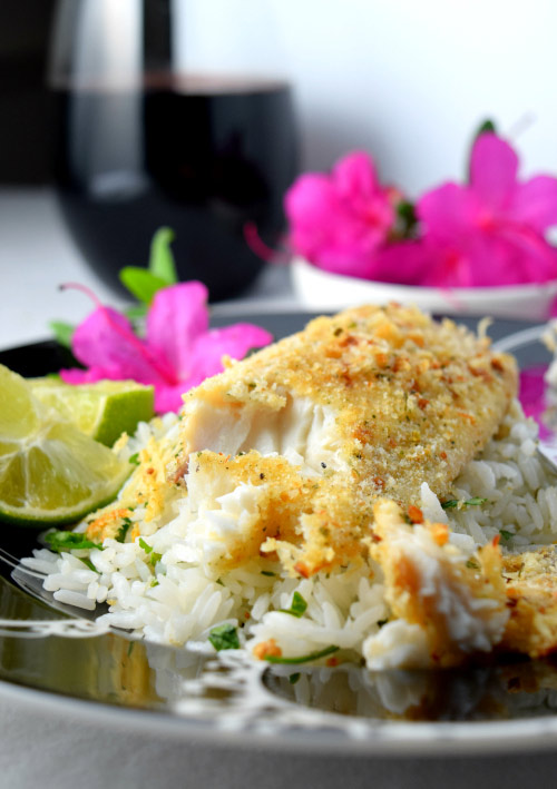 Soft Baked Parmesan Crusted Tilapia