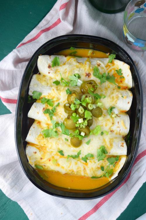 Thai Veggie Enchiladas Out of the Oven