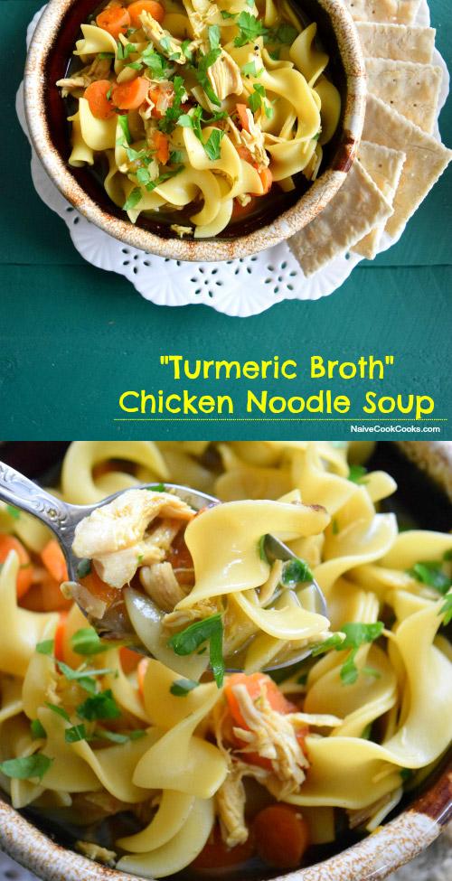 Turmeric Chicken Noodle Soup Pinterest