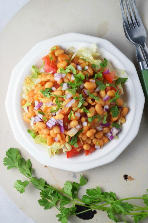 Baked Bean Taco Salad Ready to Eat