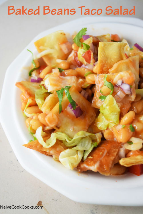 Crunchy taco & beans salad is the ultimate salad that is filling and ...