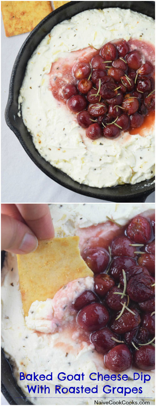 Easy Baked Goat Cheese Dip for Pinterest