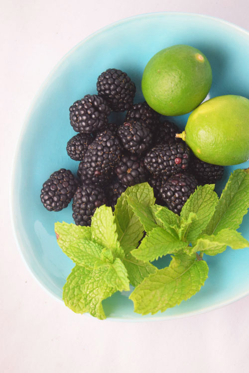Ingredients for Blackberry Mint Limeade