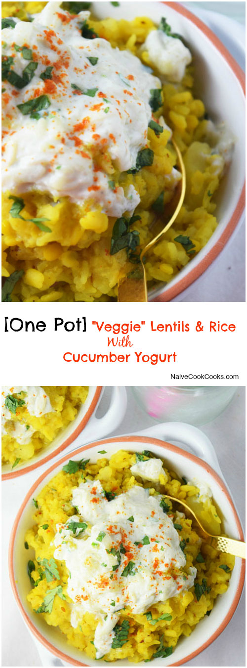 One Pot Lentils and Rice for Pinterest