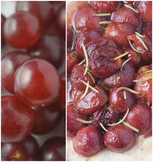 Roasted Grapes for Easy Baked Goat Cheese Dip