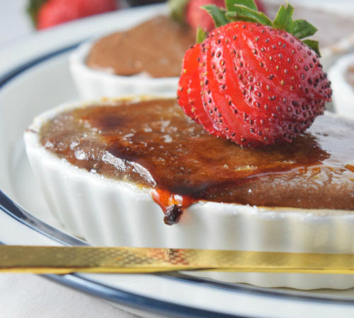 Avocado Chocolate Pudding Brulee