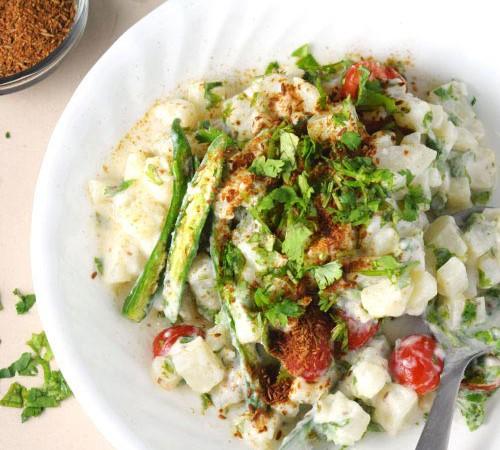 Creamy Cilantro Potato Salad