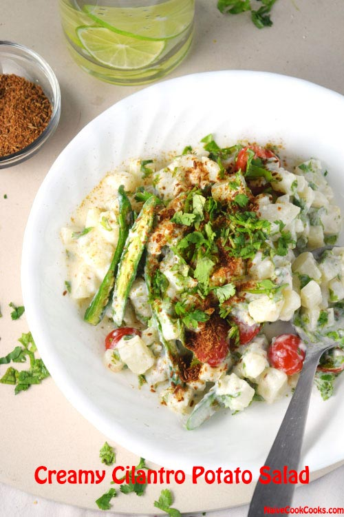 Creamy Yogurt Cilantro Potato Salad