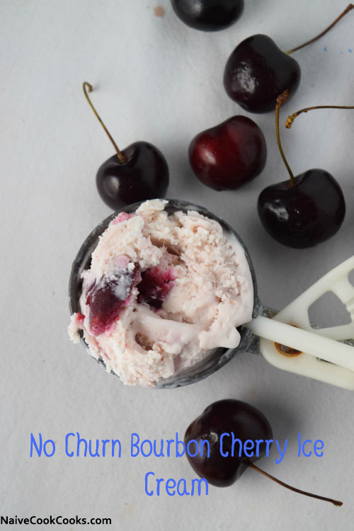 No Churn Bourbon Cherry Ice Cream