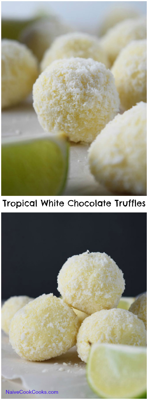 Tropical White Chocolate Truffles for Pinterest