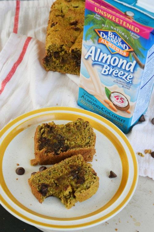 Avocado Chocolate Bread Made with Almond Milk