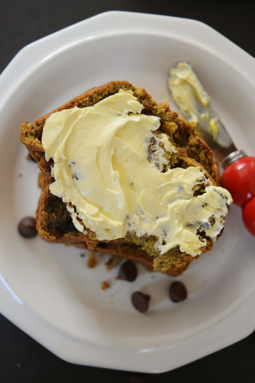 Avocado Chocolate Bread With Butter