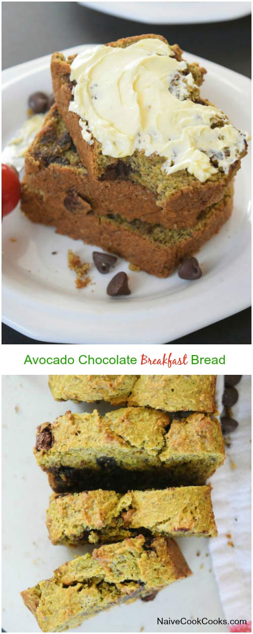 Avocado Chocolate Bread for Pinterest