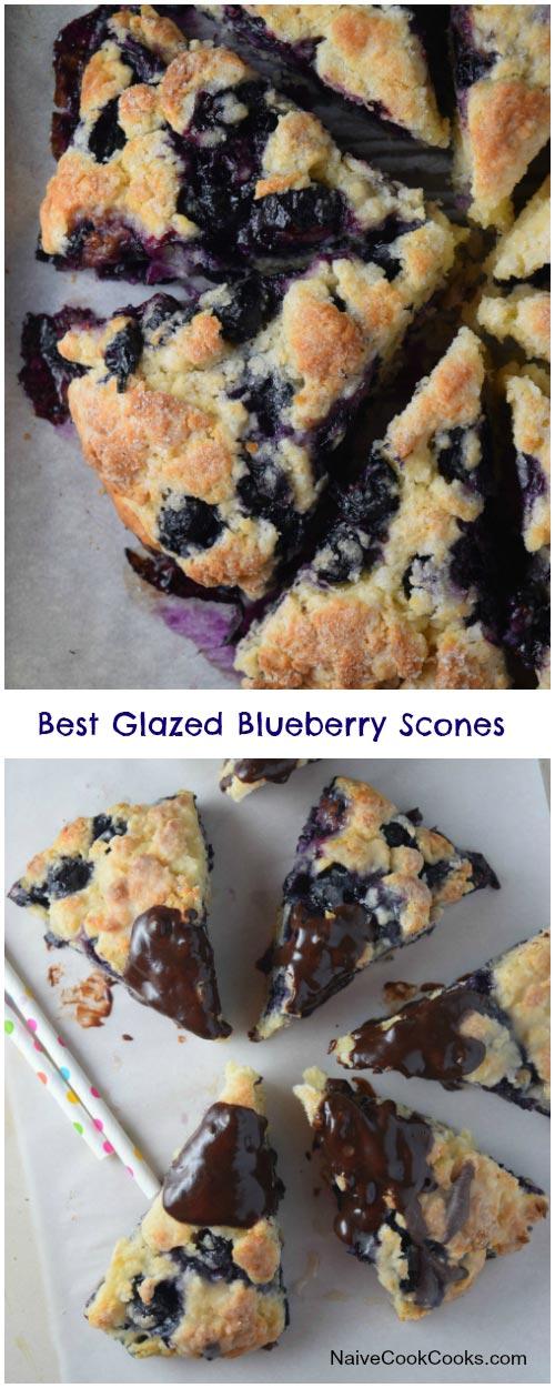 Best Glazed Blueberry Scones for Pinterest