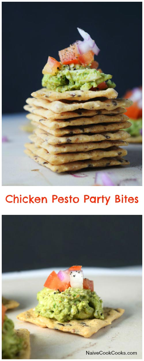 Chicken Pesto Party Bites for Pinterest