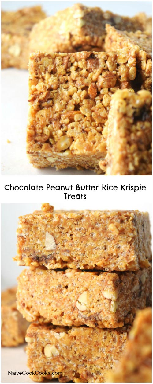 Chocolate Peanut Butter Rice Krispie Treats for Pinterest