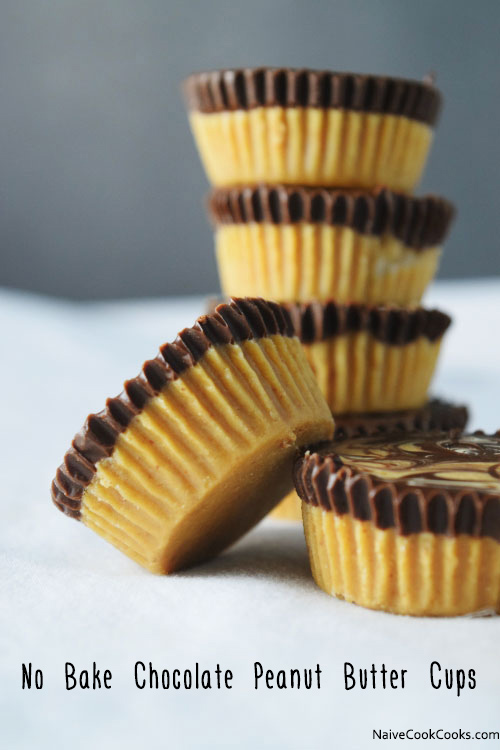 No Bake Chocolate Peanut Butter Cups Naive Cook Cooks