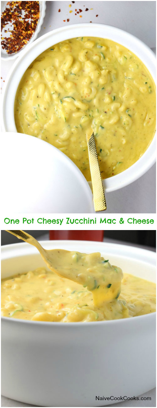 One Pot Cheesy Zucchini Mac & Cheese for Pinterest