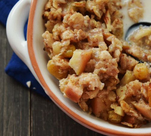 Baked Coconut Apple Oatmeal