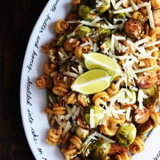 Balsamic Brussels Sprouts Pasta