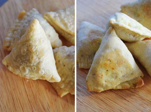 Fried and Baked Lentil Samosas