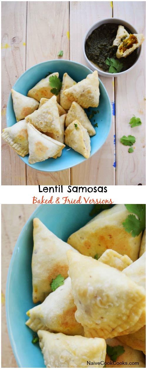 Lentil Samosas for Pinterest