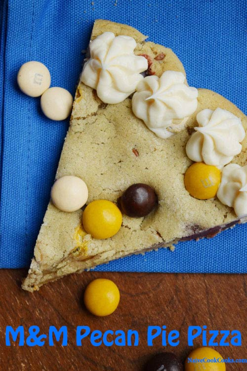 M&M Pecan Pie Pizza