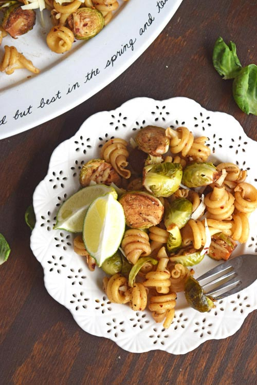 Ready to Eat Balsamic Brussels Sprouts Pasta