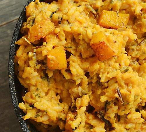 Roast Garlic Pumpkin Rice