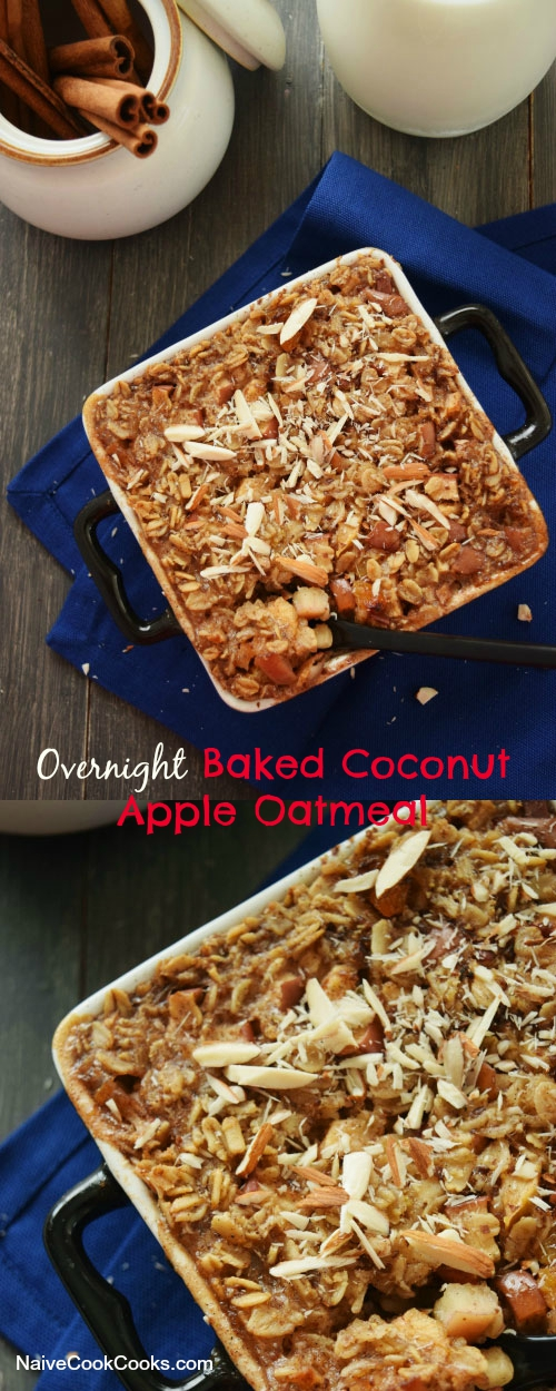 overnight baked coconut apple oatmeal