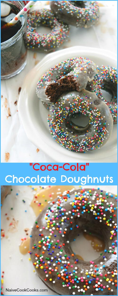 Coca-Cola Chocolate Cake Doughnuts for Pinterest