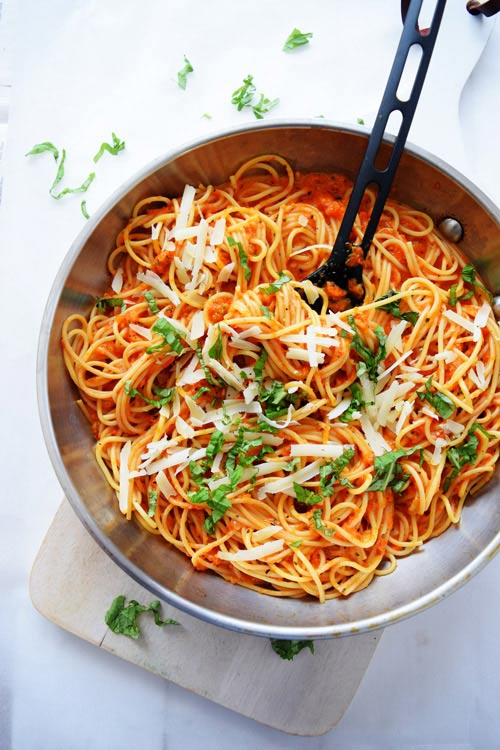 Roasted Red Pepper Pasta Ready to Eat
