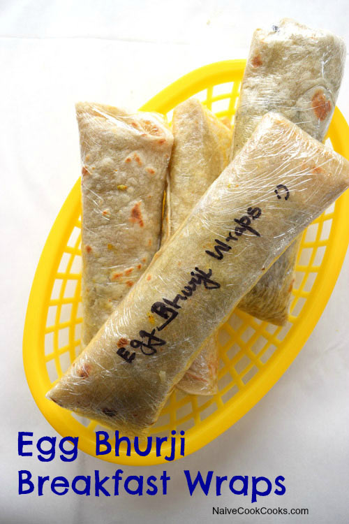 Egg Bhurji Breakfast Wraps