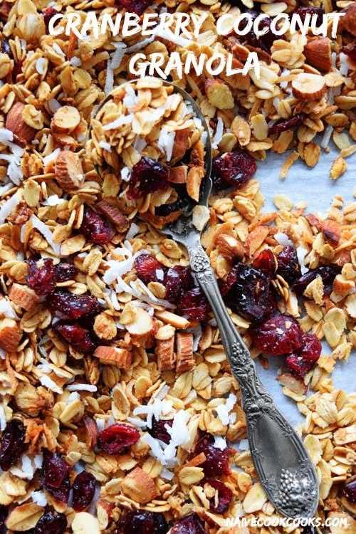Homemade Cranberry Coconut Granola