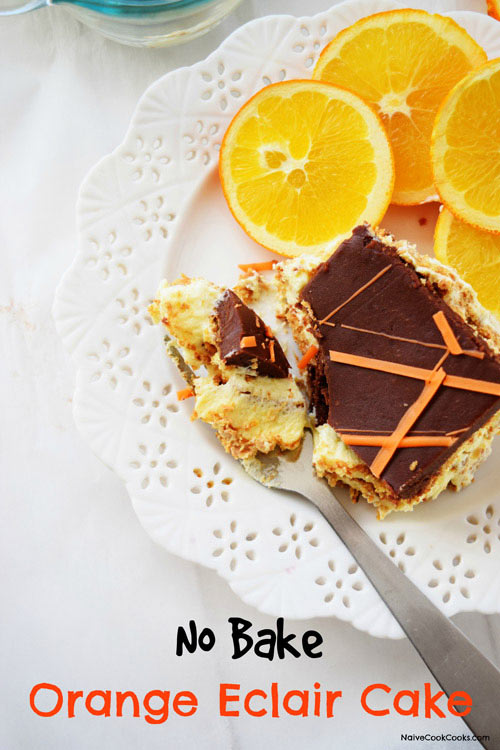 No Bake Orange Eclair Cake