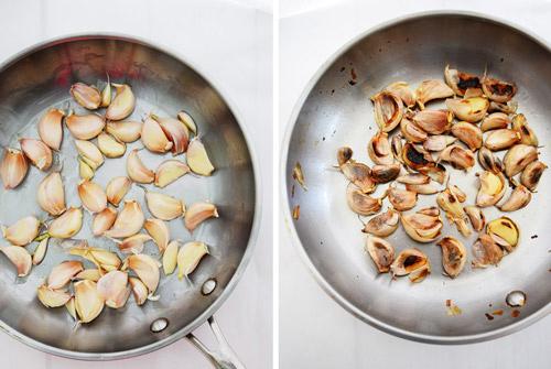 Roasting Garlic for Roasted Garlic Tortellini Sauce