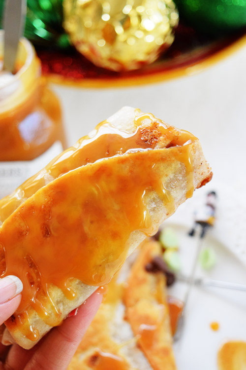 Apple Pie Chimichangas Looking Delicious