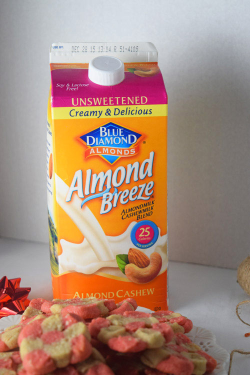 Blue Diamond Almond Milk for Easy Cashew Sugar Cookies