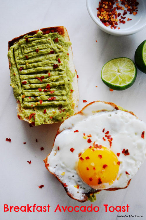 minute Breakfast Avocado Toast with crispy fried egg makes for the ...