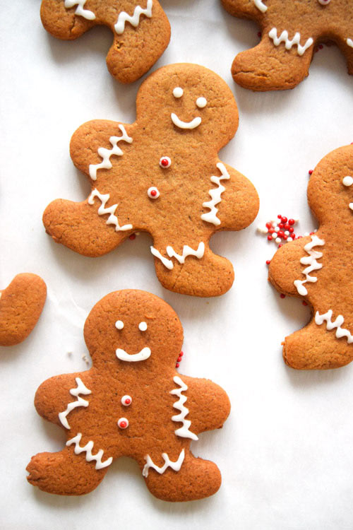 Homemade Gingerbread Men with Icing