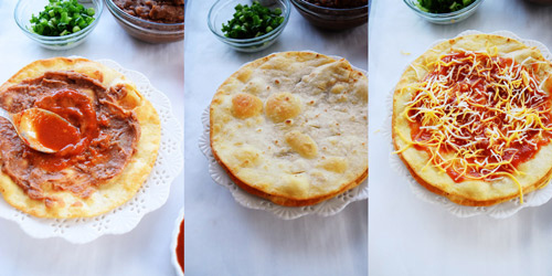 Steps to Layer Easy Mexican Pizza