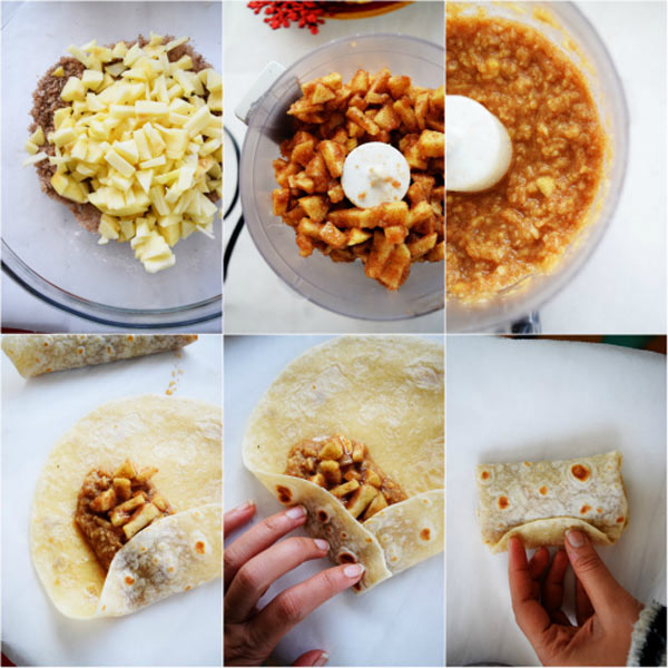 Steps to Make Apple Pie Chimichangas