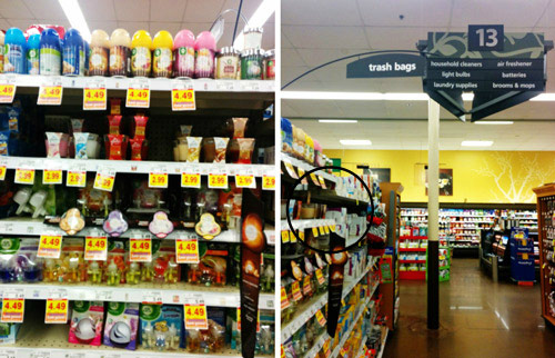 Walmart Aisle to Buy Glade Scents