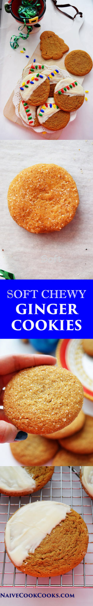 Soft Chewy Ginger Cookies for Pinterest