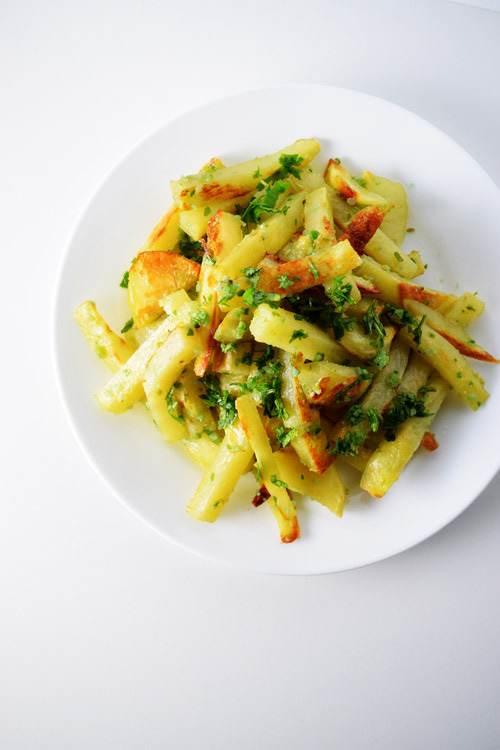 Dish of Spicy Green Fries