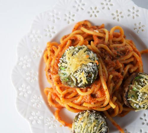 Stuffed Mushrooms Pasta