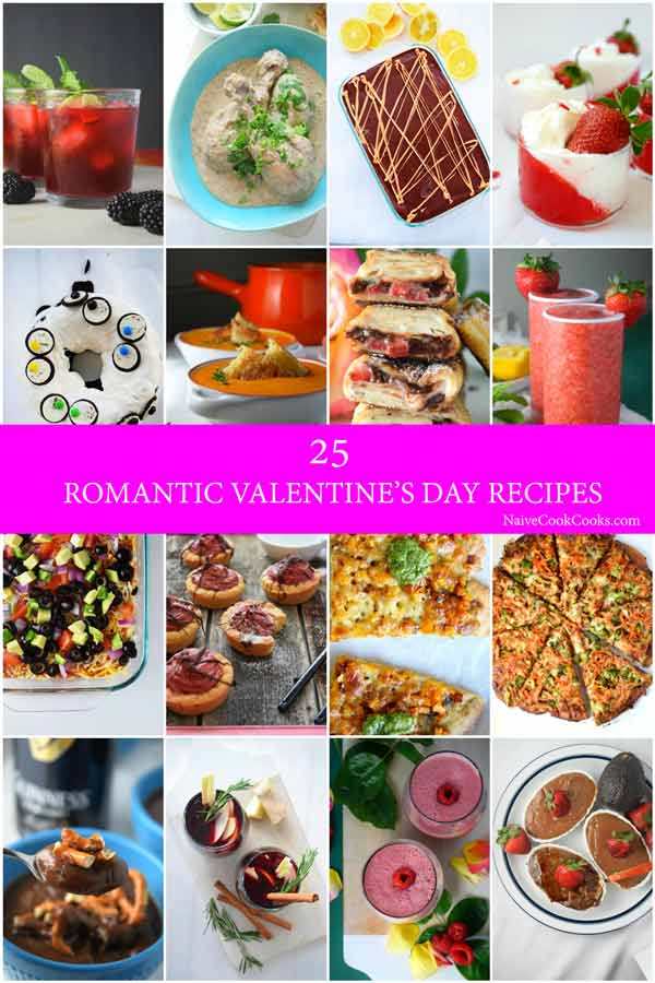 25 romantic valentines day recipes naive cook cooks for Romantic valentine recipes for two