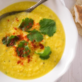 Gujarati moong dal with tempering